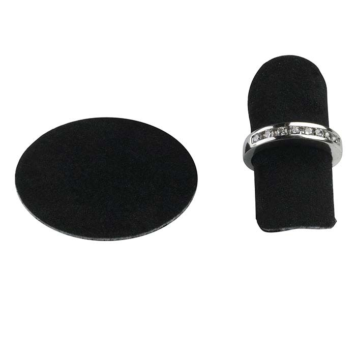 Black Shadow Suede Ring Disc Display