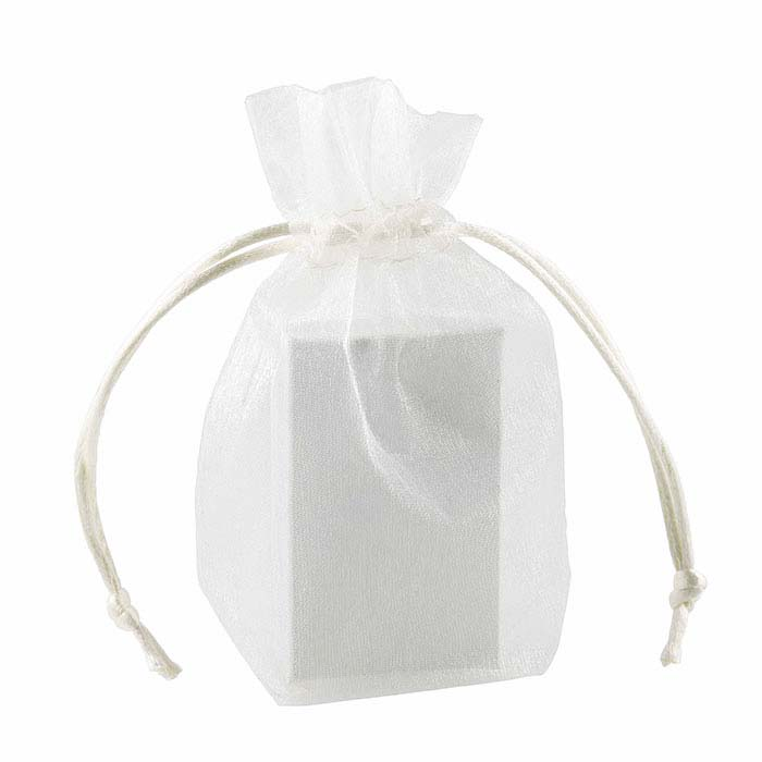 "Organza Ivory 3-1/2"" x 5"" Pouch"
