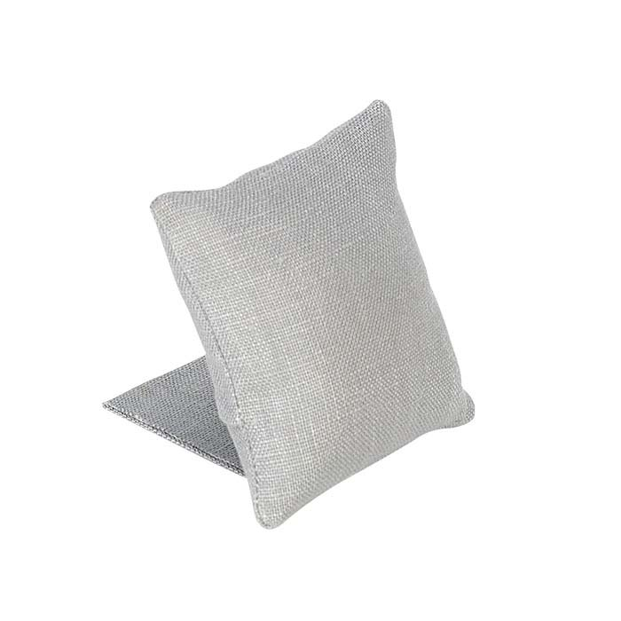 Silver Linen Pillow Display with Stand