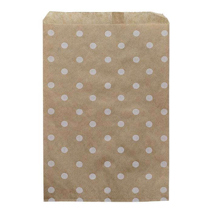 "White Dots Print Paper 6""W x 9""H Merchandise Bag"