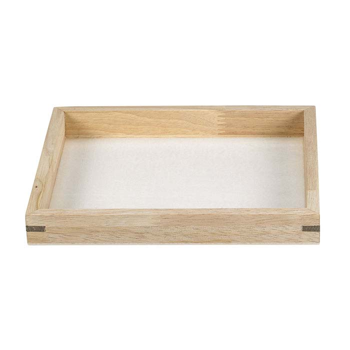 Natural Wood Stackable Half-Size Tray