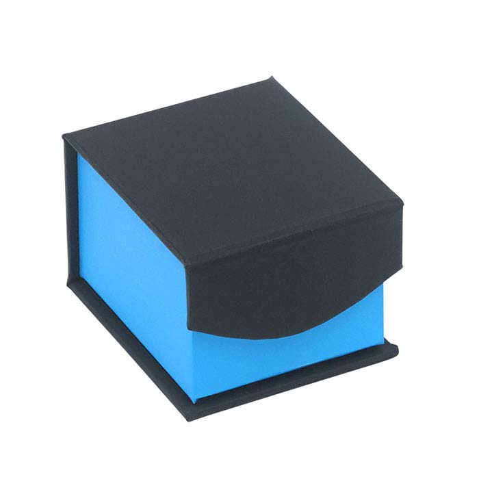 Electric Night Blue and Black Ring Gift Box
