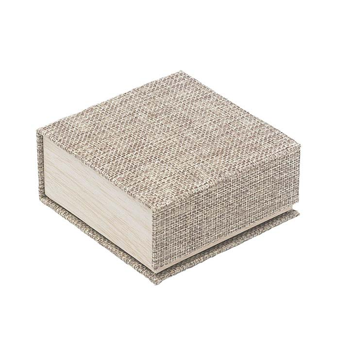 Cabana Burlap and Wood-Patterned Combination Gift Box