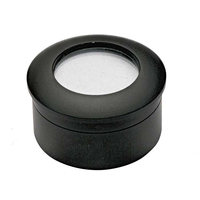 Matte Black Metal Gem Jar with Reversible Insert