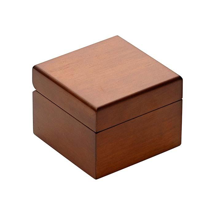 Brown Matte Hardwood Bangle or Watch Gift Box