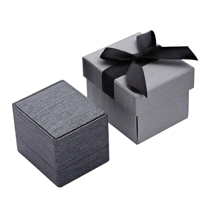 Silver Night Premium Ribbon Ring Gift Box