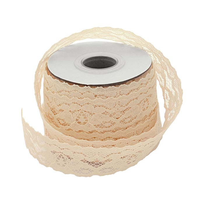 "Ivory Cotton Lace 1"" Ribbon"