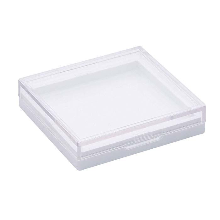 White Plastic Gel-Coated Cabochon Gem Box