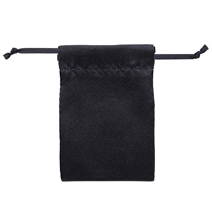 "Black Satin-Weave Nylon 2-1/2""W x 3-1/2""H Pouch"