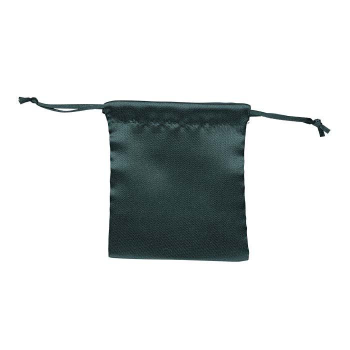 "Emerald Satin-Weave Nylon 4""W x 4-1/2""H Pouch"