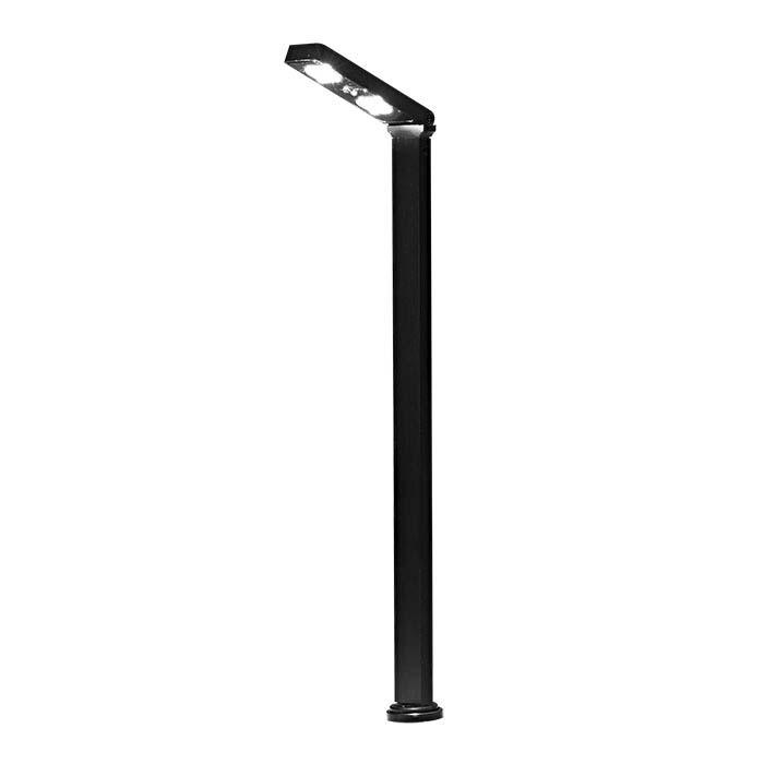 Black Aluminum LED Display Light