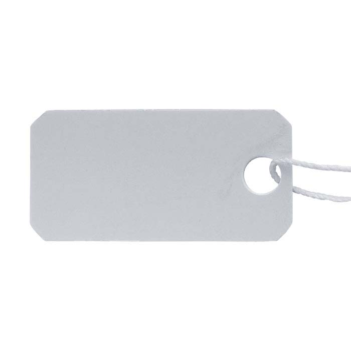 White Plastic String Tag