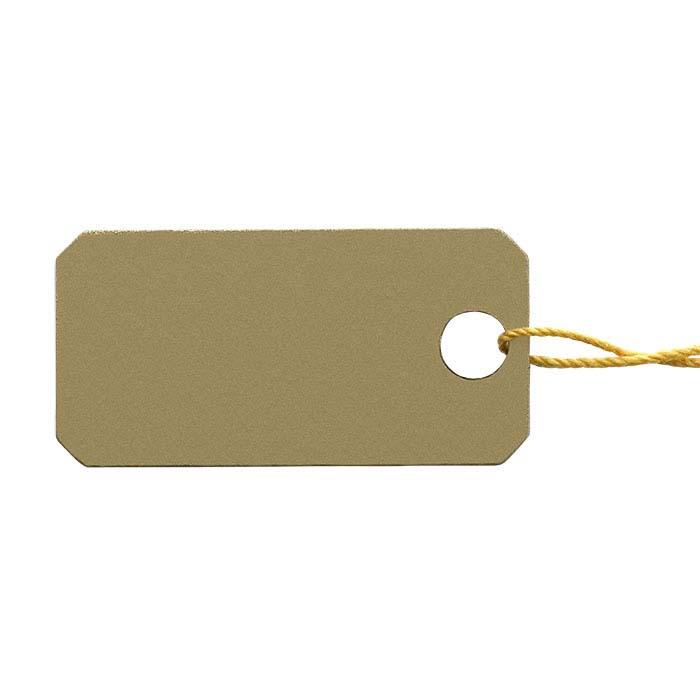 Metallic Plastic String Tags