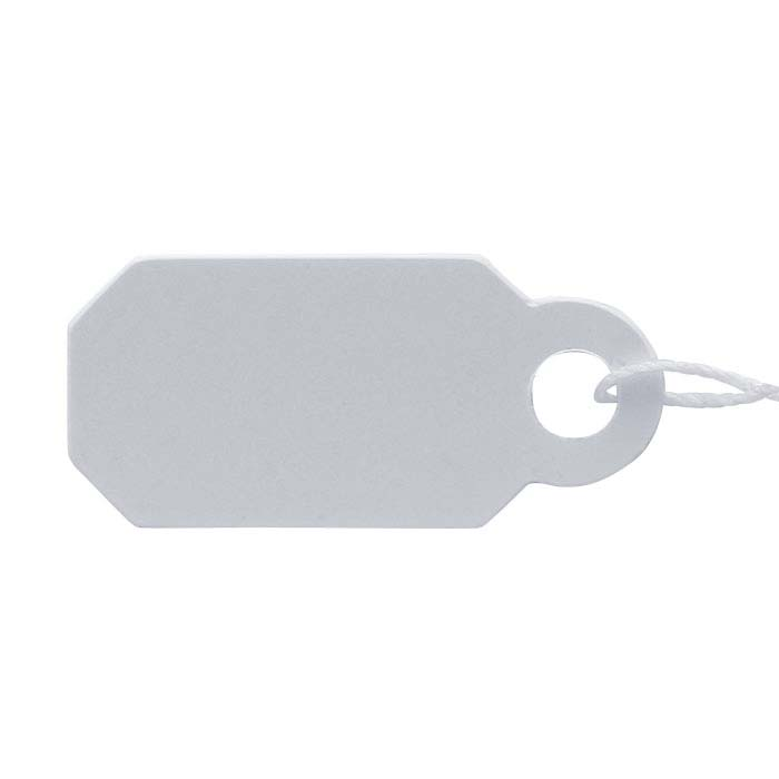 White Plastic String Tag
