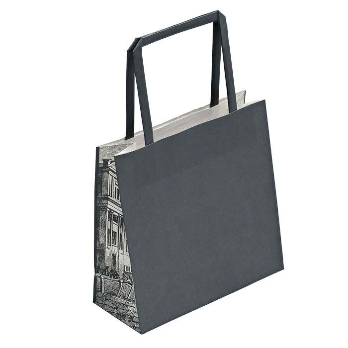 "Metropolis ""Cityscape"" Gray Paper Tote"