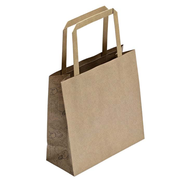 "Metropolis ""Travel Stamp"" Kraft Paper Tote"