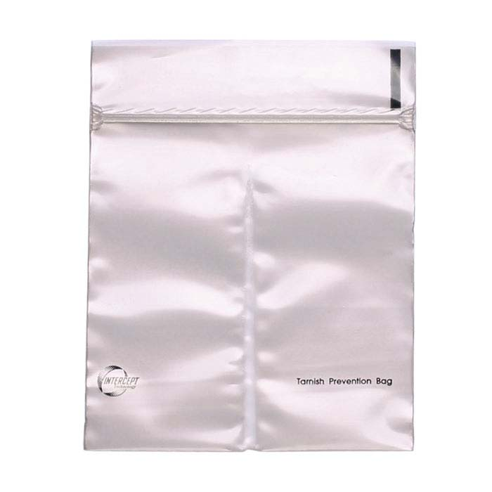 "Intercept® 4"" x 4"" Split-Pocket Anti-Tarnish Plastic Bag"
