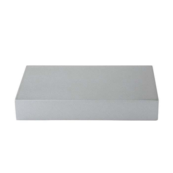 Metallic Silver Plastic Rectangle Block Displays