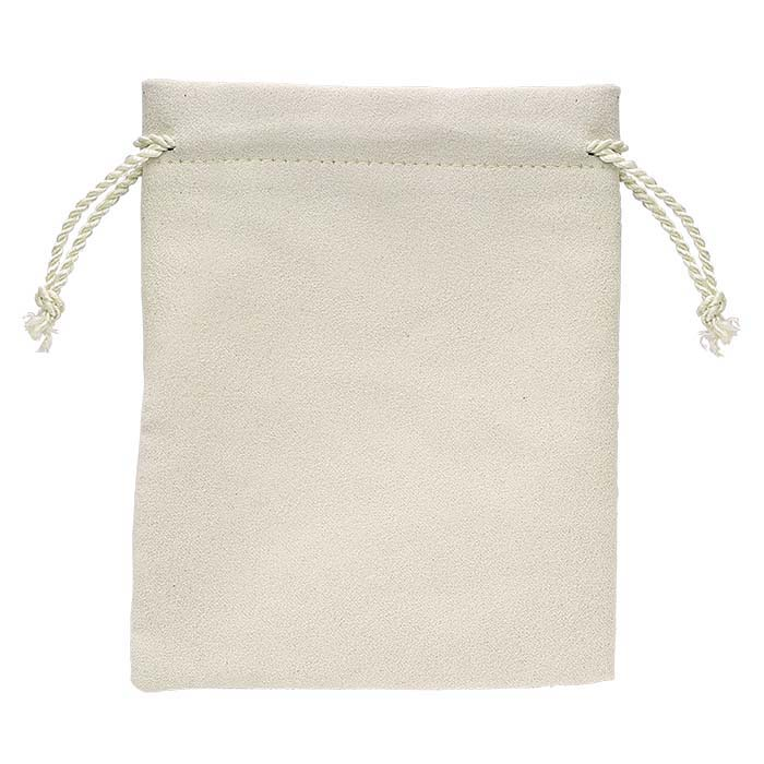 """Alor """"Polished Pearl"""" Ivory Drawstring Pouches"""