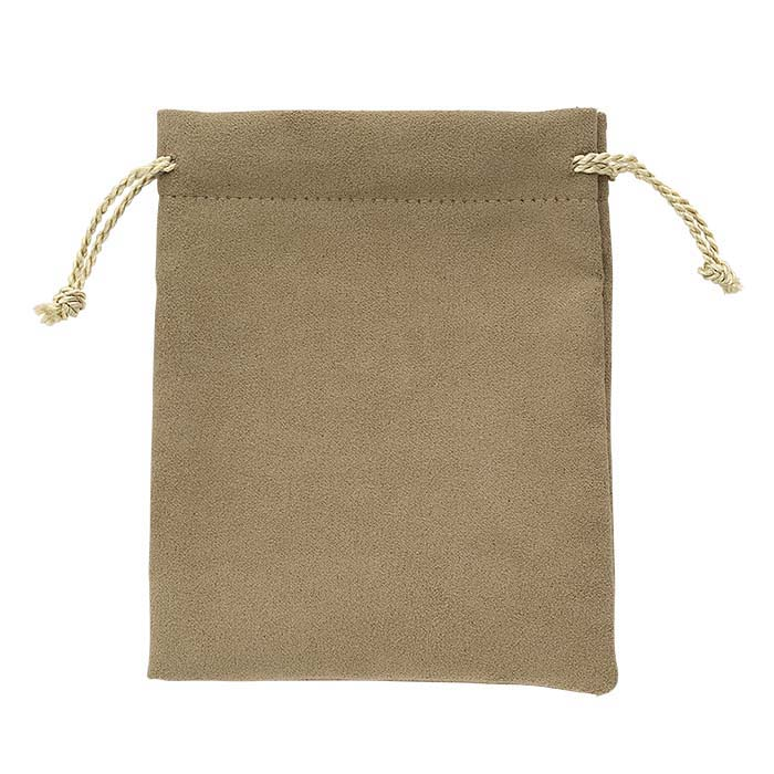 "Alor ""Tea Time"" Brown Drawstring Pouches"