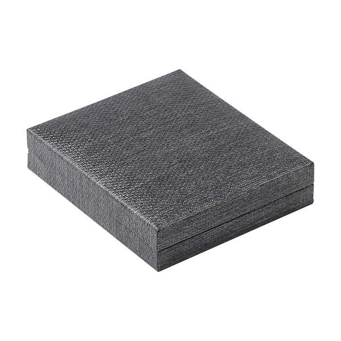 Metallic Gray Slim Proposal Ring Box