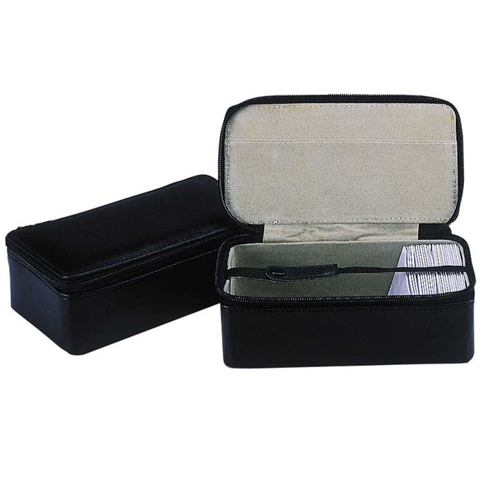 Black Leather Organizer Case for Stone Papers