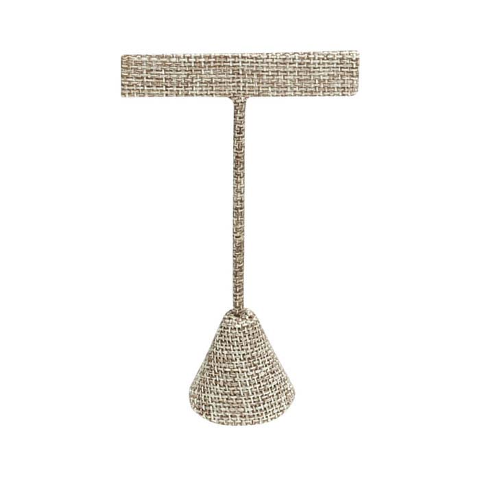 """Burlap T-Stand Earring Display, 4-1/2"""""""