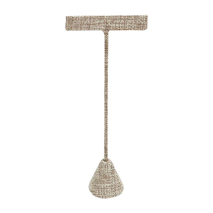 """Burlap T-Stand Earring Display, 6-1/2"""""""