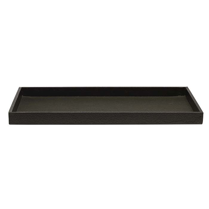 Black Textured-Paper Full-Size Tray