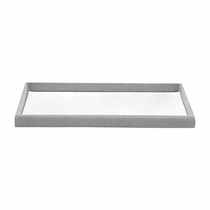 Silver Linen Full-Size Tray