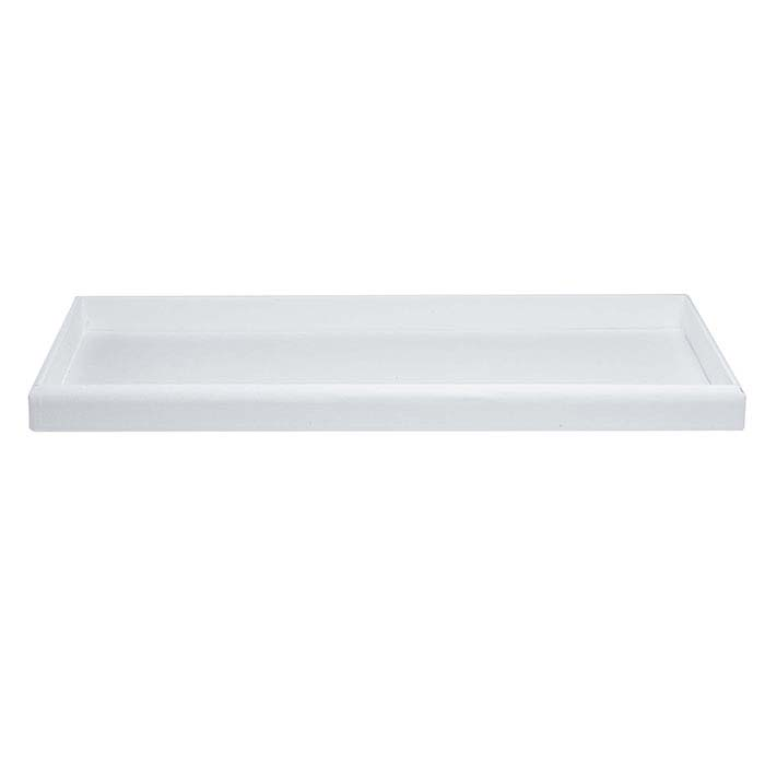 White Faux Leather Full-Size Tray