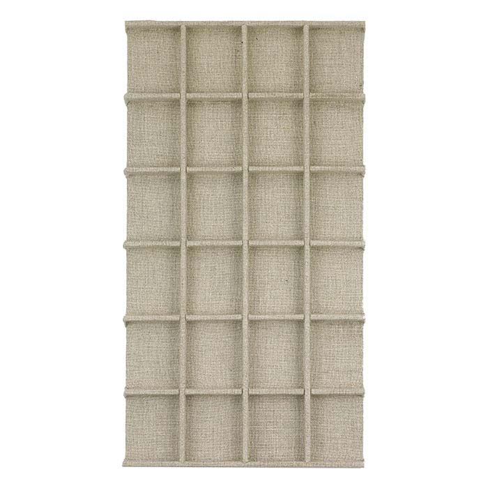 Natural Linen 24-Compartment Tray Insert