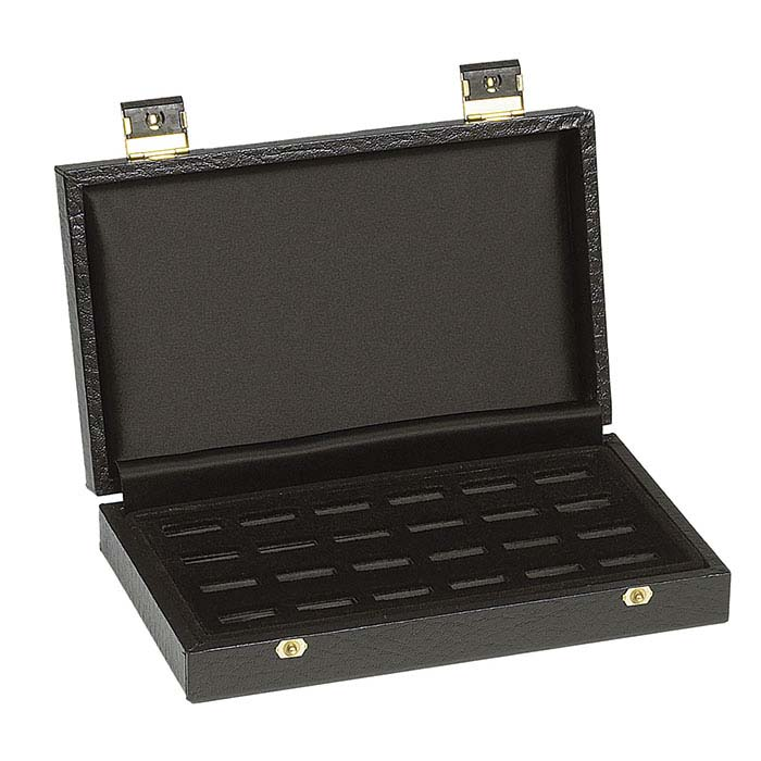 Black Deluxe 24-Slot Ring Case