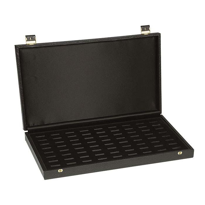 Black Deluxe 72-Slot Ring Case