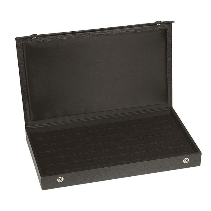 Black 72-Slot Ring Case