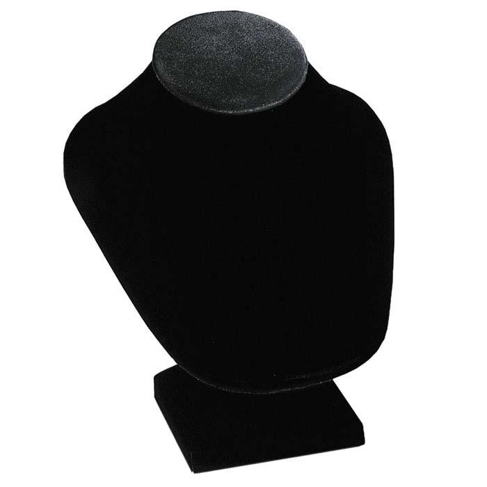 Black Velvet Necklace Bust Display