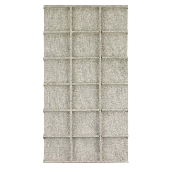 Natural Linen 18-Compartment Tray Insert