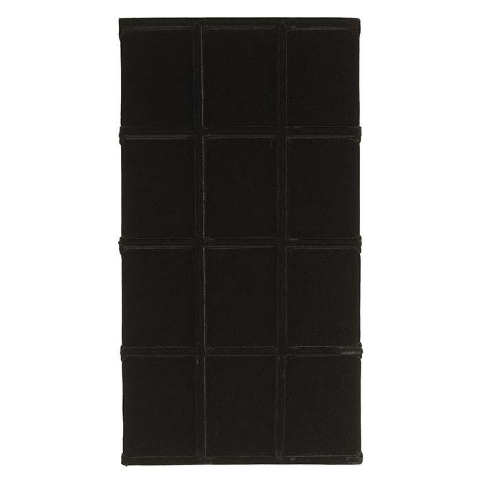 Black Velvet 12-Compartment Tray Insert