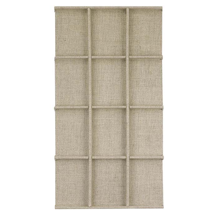 Natural Linen 12-Compartment Tray Insert