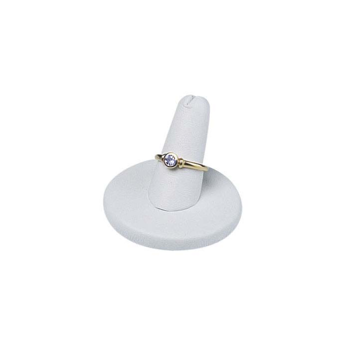White Vienna Faux Leather Pretty Fingers™ Ring Display