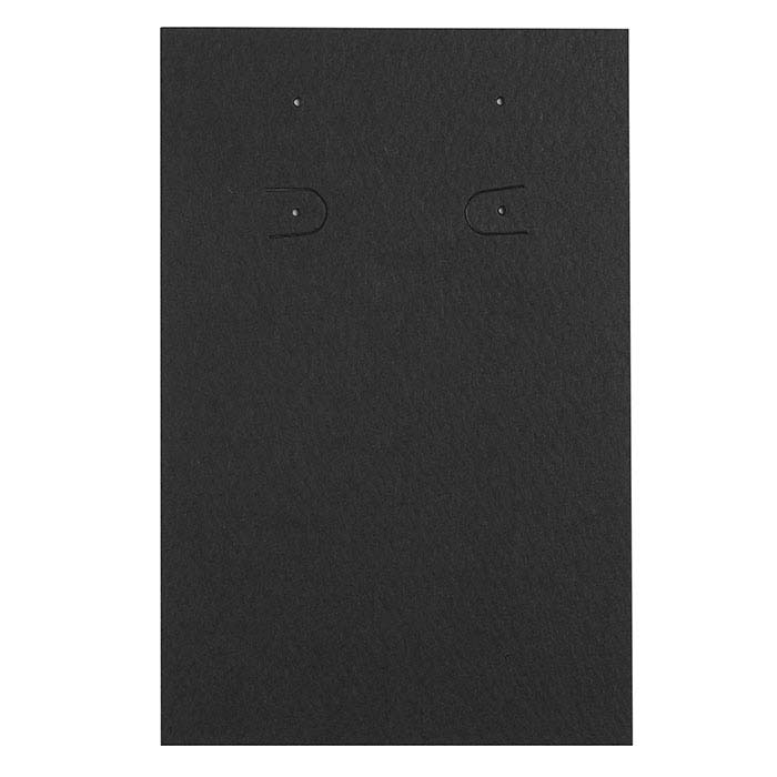 Black Vertical Pierced or Clip Earring Card