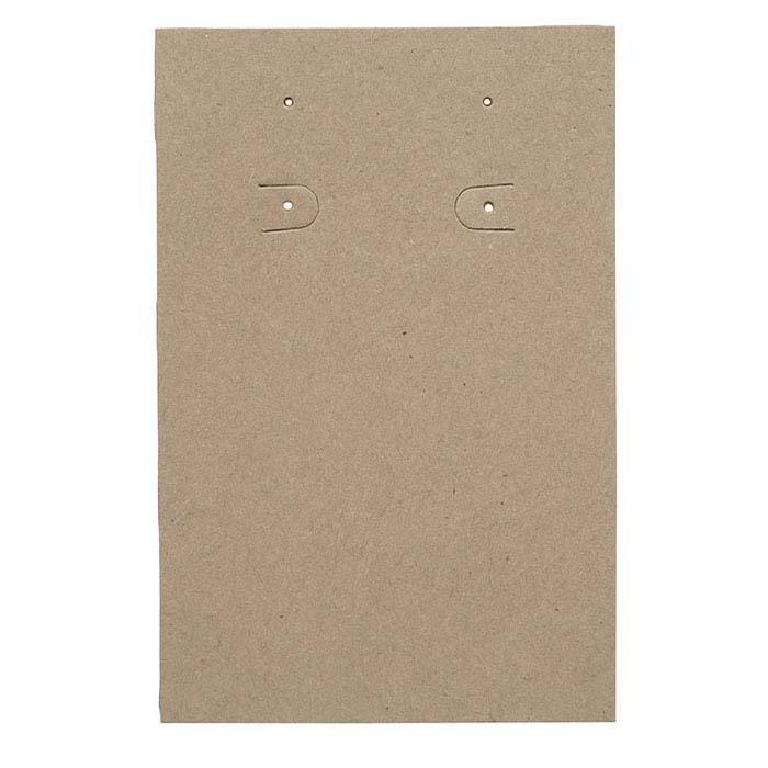 Kraft Vertical Pierced or Clip Earring Card