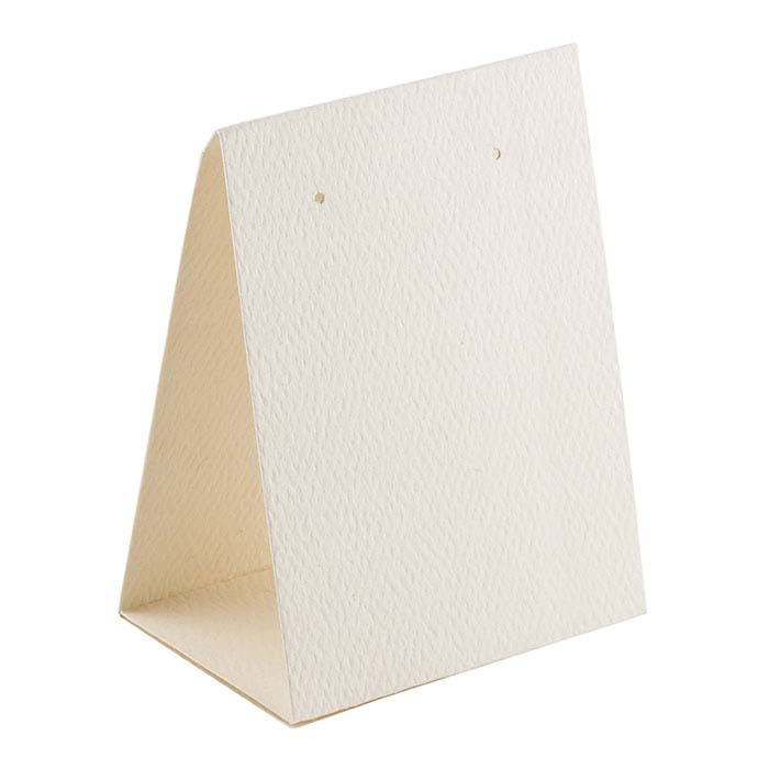 Ivory Textured Paper Earring Tent Card