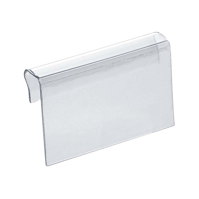 "Clear Plastic 1"" x 1/2"" Adhesive Jewelry Card Adapter"