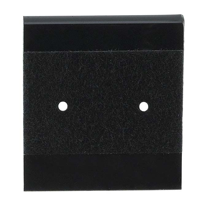 Black Velour-Flocked Plastic Hanging Earring Card