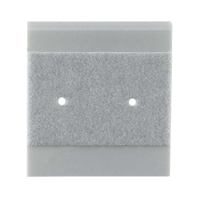 Gray Velour-Flocked Plastic Hanging Earring Card
