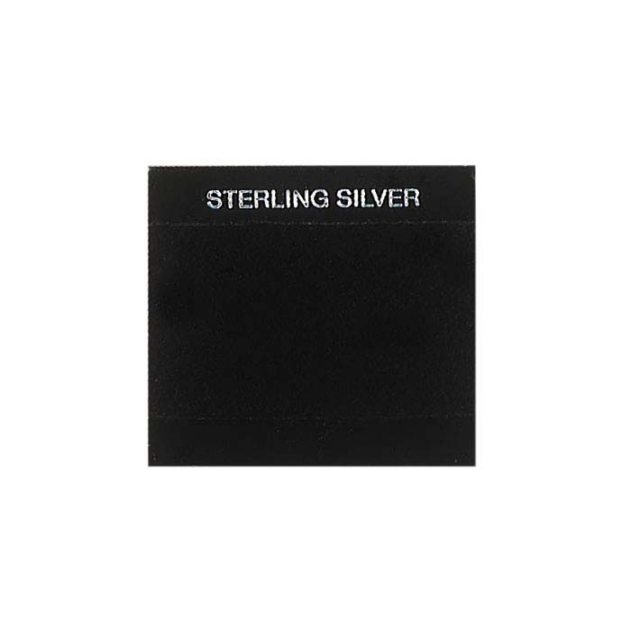 Black Printed Velour-Flocked Plastic Hanging Earring Card