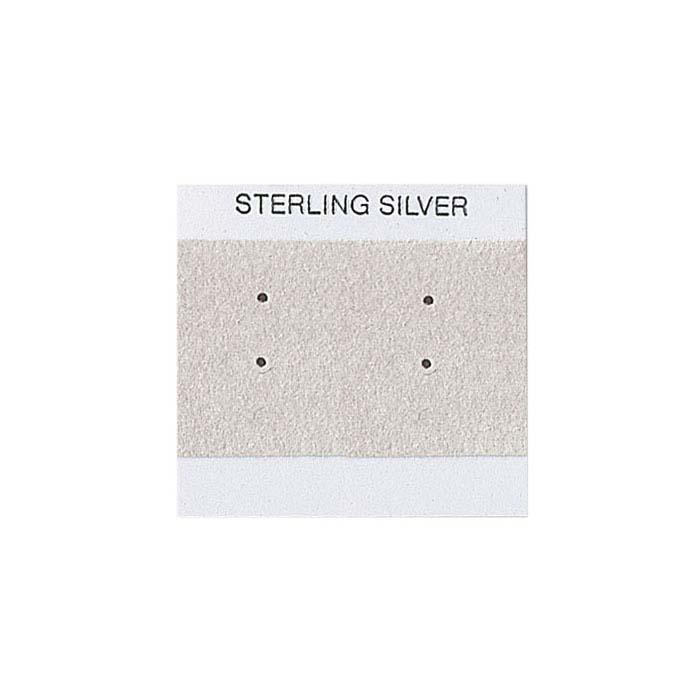 Gray Printed Velour-Flocked Plastic Hanging Earring Card