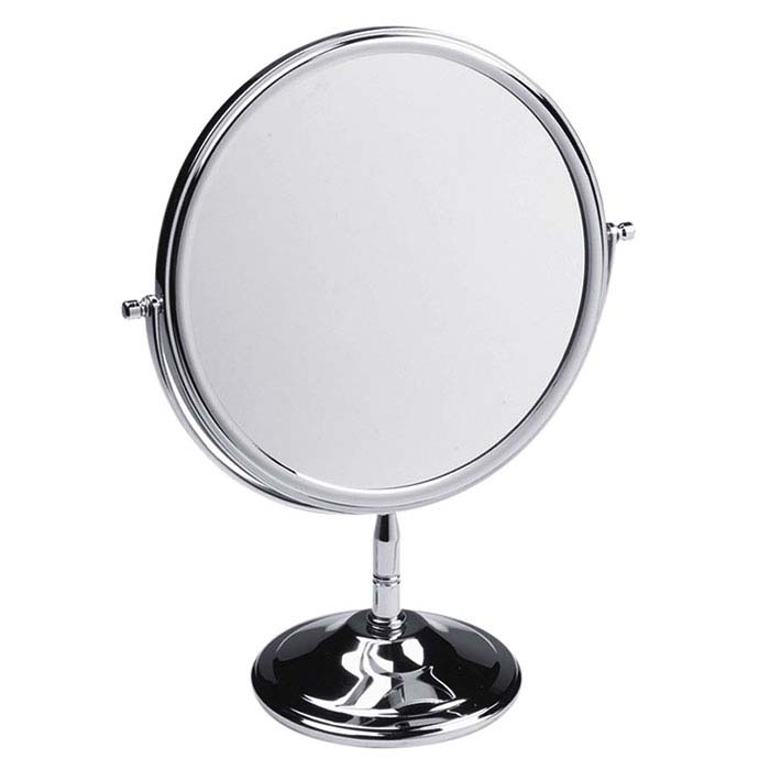 Chrome Double-Sided Adjustable Mirror