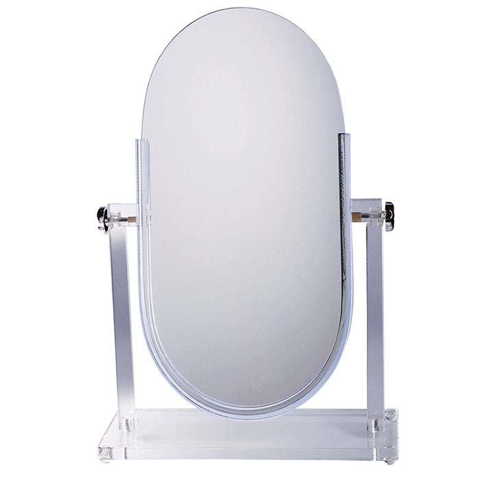 Clear Acrylic Double-Sided Adjustable Mirror